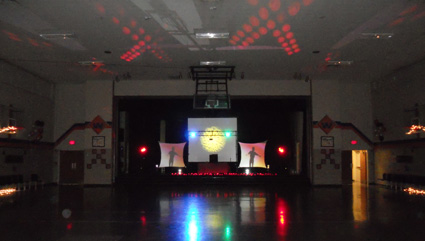 Dual Video Screens with LED Lighting