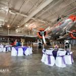 High-flying wedding reception hall.