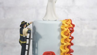 Fireman-Fire-Fighter-Groom-and-Bride-Couple-Wedding-Cake-Topper-Custom-Hair-251361811797-2